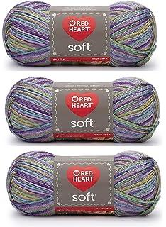 Coats Yarn E728-4422 Red Heart Soft Yarn-Tangerine 3Pk