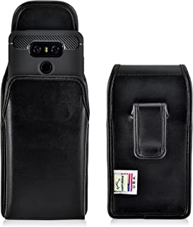 product image for Turtleback Holster Made for LG G6 Black Vertical Belt Case Leather Pouch with Executive Belt Clip Made in USA