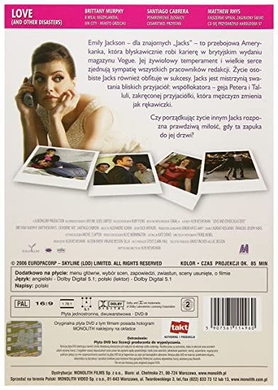 Love and Other Disasters DVD IMPORT No hay versión española: Amazon.es: Brittany Murphy, Matthew Rhys, Santiago Cabrera, Samantha Bloom, Catherine Tate, ...