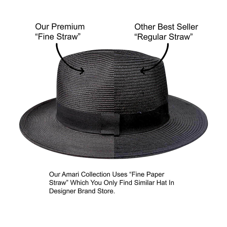 for Both Women Men Pineapple/&Star Sun Straw Fedora Beach Hat Fine Braid UPF50
