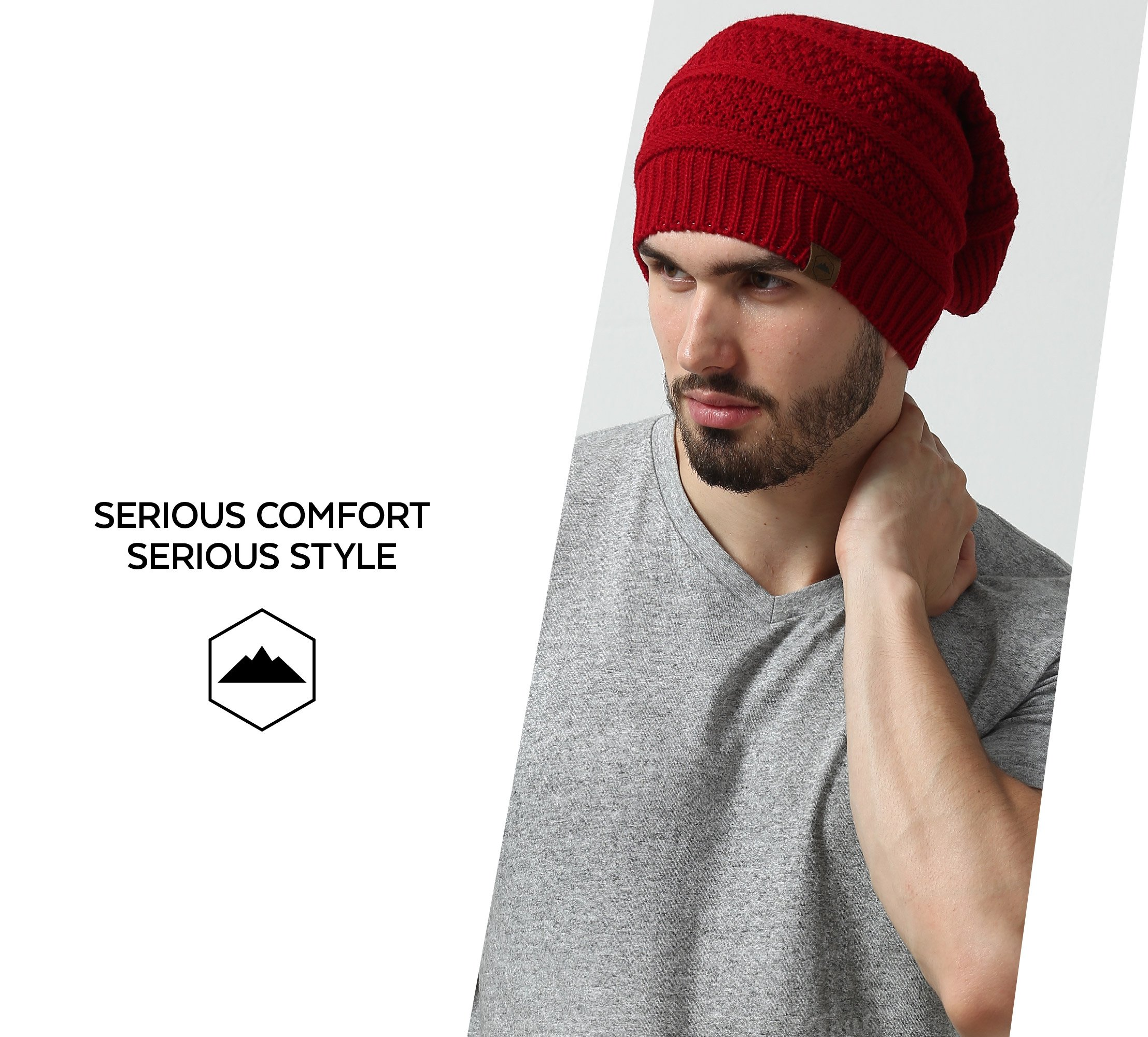 Slouchy Cable Knit Beanie by Tough Headwear - Chunky