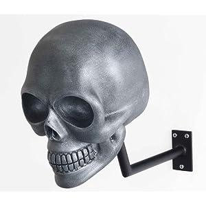 H-SKULL Support pour casque tête de mort. (ANTIK SILVER)