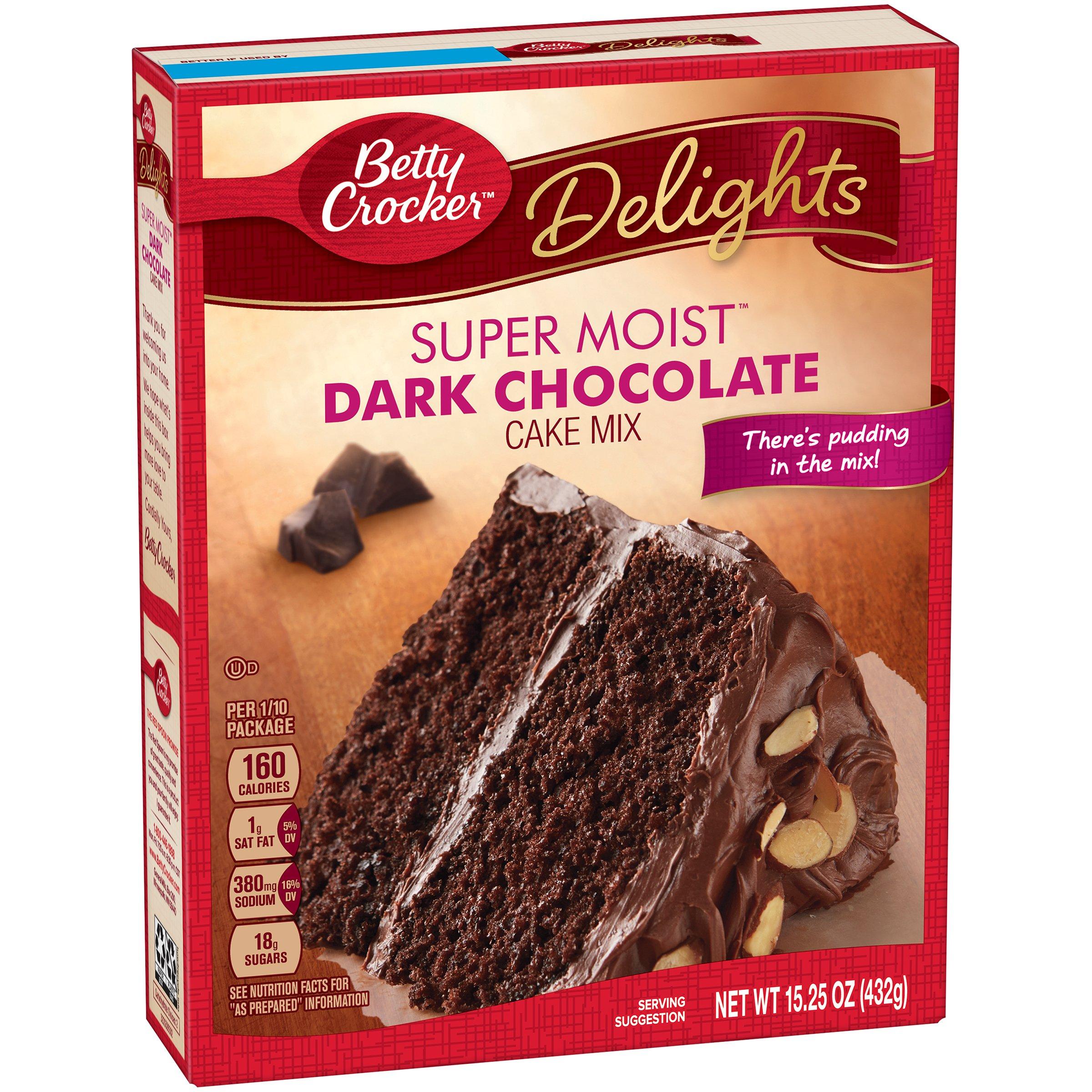 General Mills Betty Crocker Dark Chocolate Cake, 15.25 Ounce