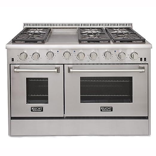 Amazon.com: Professional 6.7 Cu. Ft. Gas Convection Range: Kitchen ...