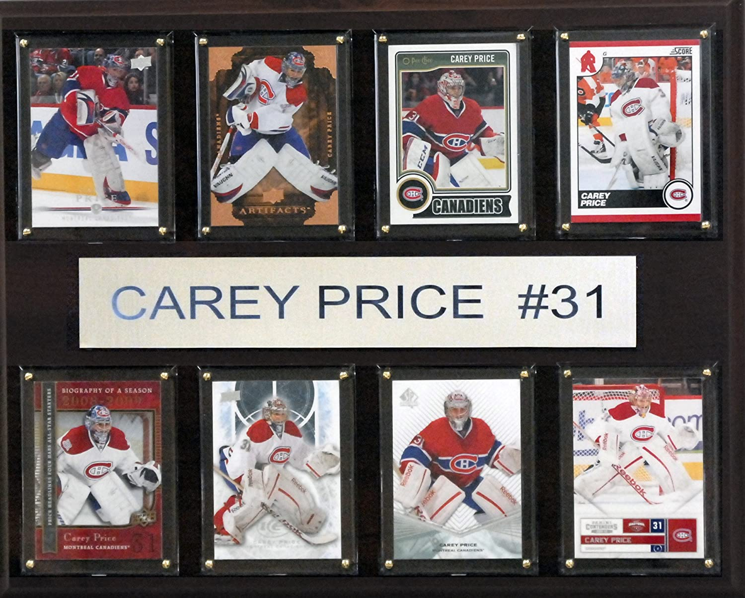 NHL Montreal Canadiens Carey Price gefaltet Plaque, 12 x 15 Zoll
