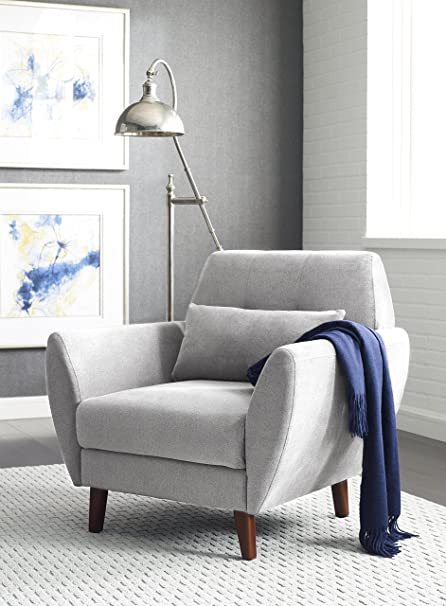 Serta Artesia Collection Arm Chair In Smoke Gray