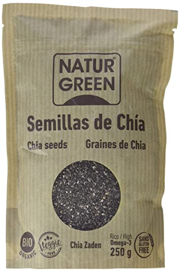 NaturGreen Semillas de Chía - Pack de 6 unidades de 250 gr