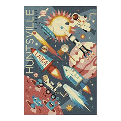 Huntsville, Alabama - Space Geometric (Premium 1000 Piece Jigsaw Puzzle for Adults, 20x30, Made in USA!): Toys & Games