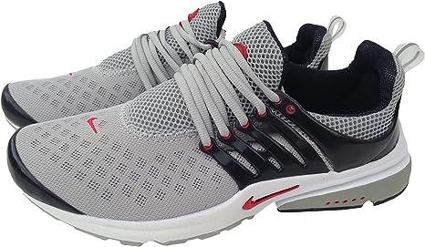 Nike Air Presto Gris Rojo Negro Mens tamaño 10 Zapatillas Shox Zapatos – Nuevo: Amazon.es: Deportes y aire libre