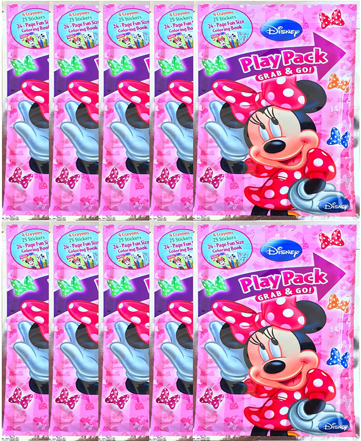 Amazon.com: Minnie Mouse Play Pack Grab and Go Coloring Book ...
