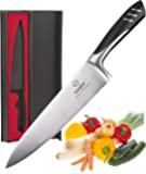 chef knife 8 Inch - kitchen knife German steel with Gift box - best chef knife for High Carbon Stainless Steel - Chopping knives for Budding Kitchen, cooking knives, and for professional chef knives