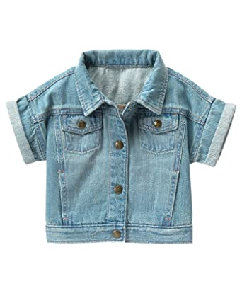 Amazon.com: Crazy 8 Baby Toddler Girls' SS Short Sleeve Denim ...