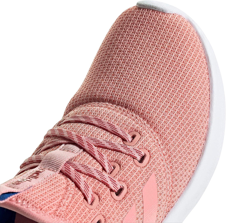 adidas Damen Cloudfoam Pure Laufschuhe, weiß Glory Pink Glory Pink Glory Red