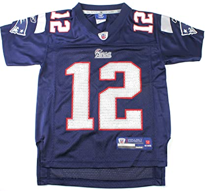 a1c905e49 Outerstuff Tom Brady New England Patriots  12 NFL Youth Team Color Jersey  Navy (Youth