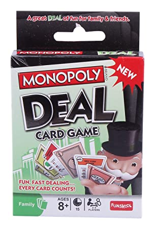 Monopoly Deal Family Card Game US Version Hasbro B0965 Fast Dealing Property Trading