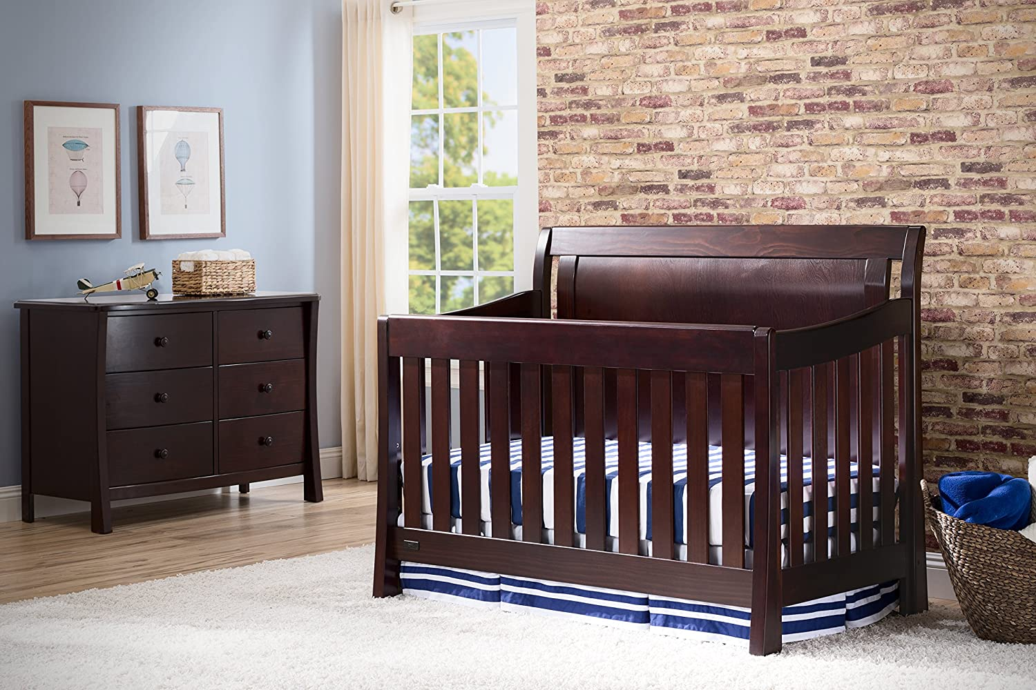 simmons easy side crib. amazon.com : simmons kids slumbertime madisson crib \u0027n\u0027 more, black espresso baby easy side a