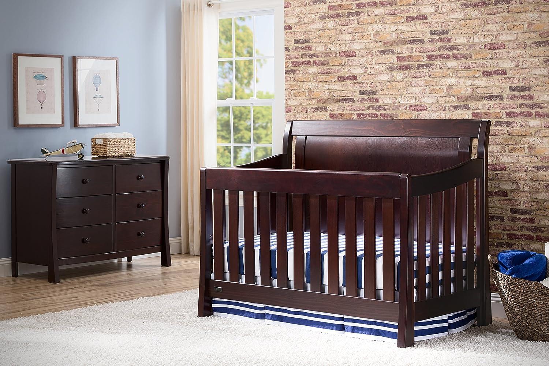 simmons convertible crib. amazon.com : simmons kids slumbertime madisson crib \u0027n\u0027 more, black espresso baby convertible e
