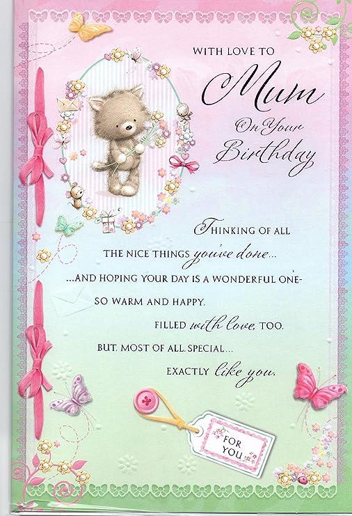 Tarjeta de cumpleaños para mamá, con amor para mamá en tu ...