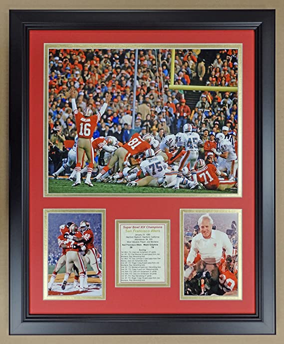 Inc. Legends Never Die San Francisco 49ers Framed 12x15 Double Matted Photos 1981 Superbowl XVI Champions
