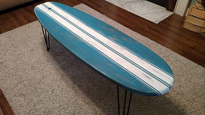surfboard furniture. Surfboard Coffee Table Wooden Weathered Surf Furniture 5 Ft.