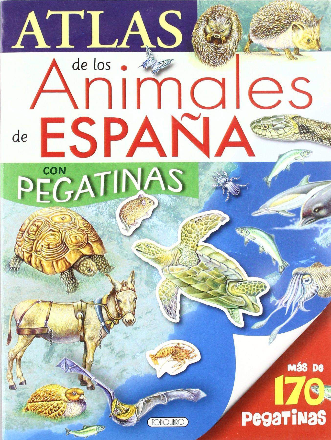 Atlas de los animales de España con pegatinas: Amazon.es ...