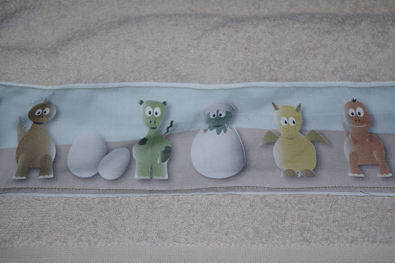serviette de toilette dinosaure (beige)