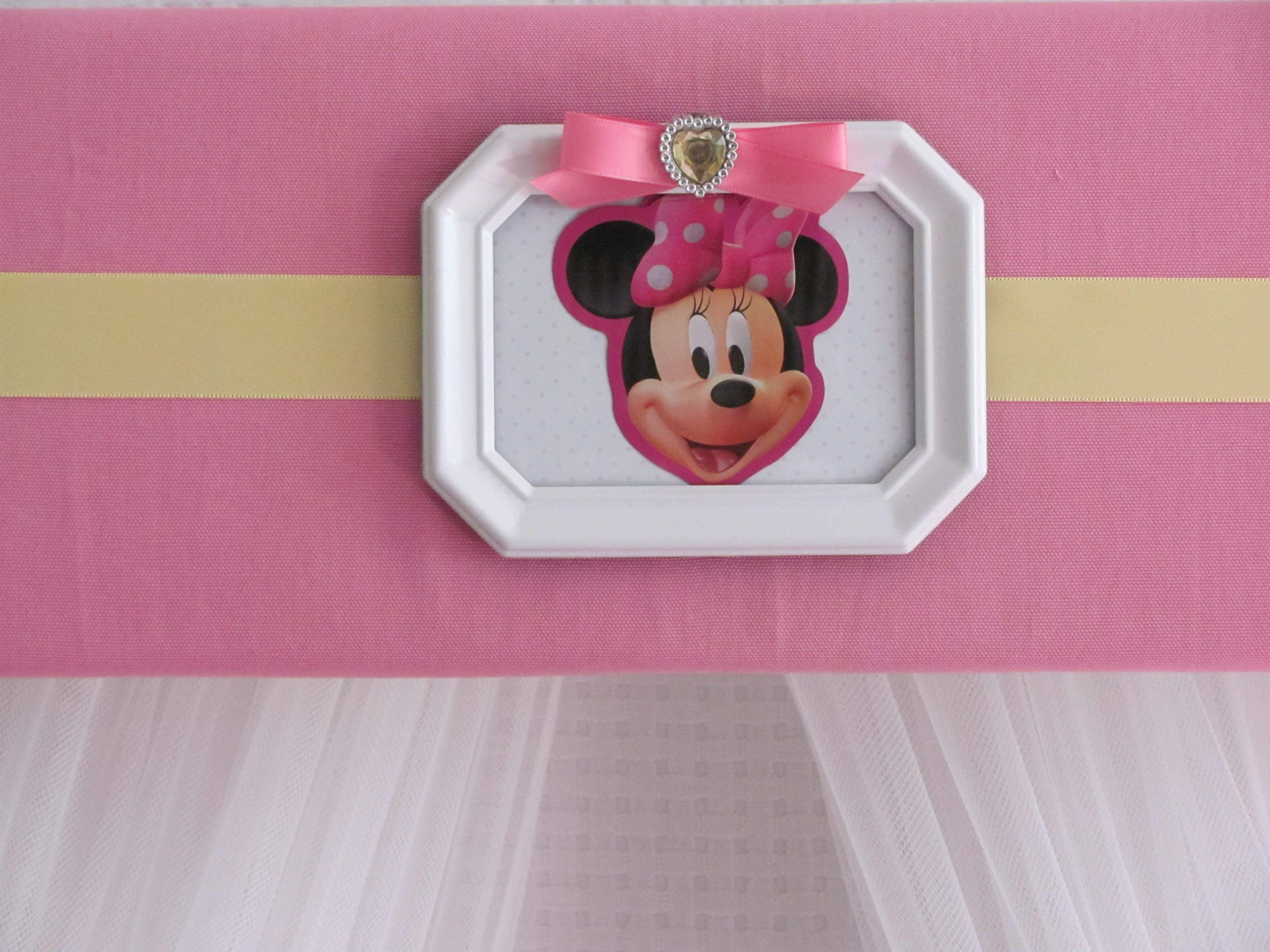 Disney Minnie Mouse Crib canopy cornice BED teester FULL Twin 30 inch Pink nursery So Zoey Boutique by So Zoey Boutique (Image #5)