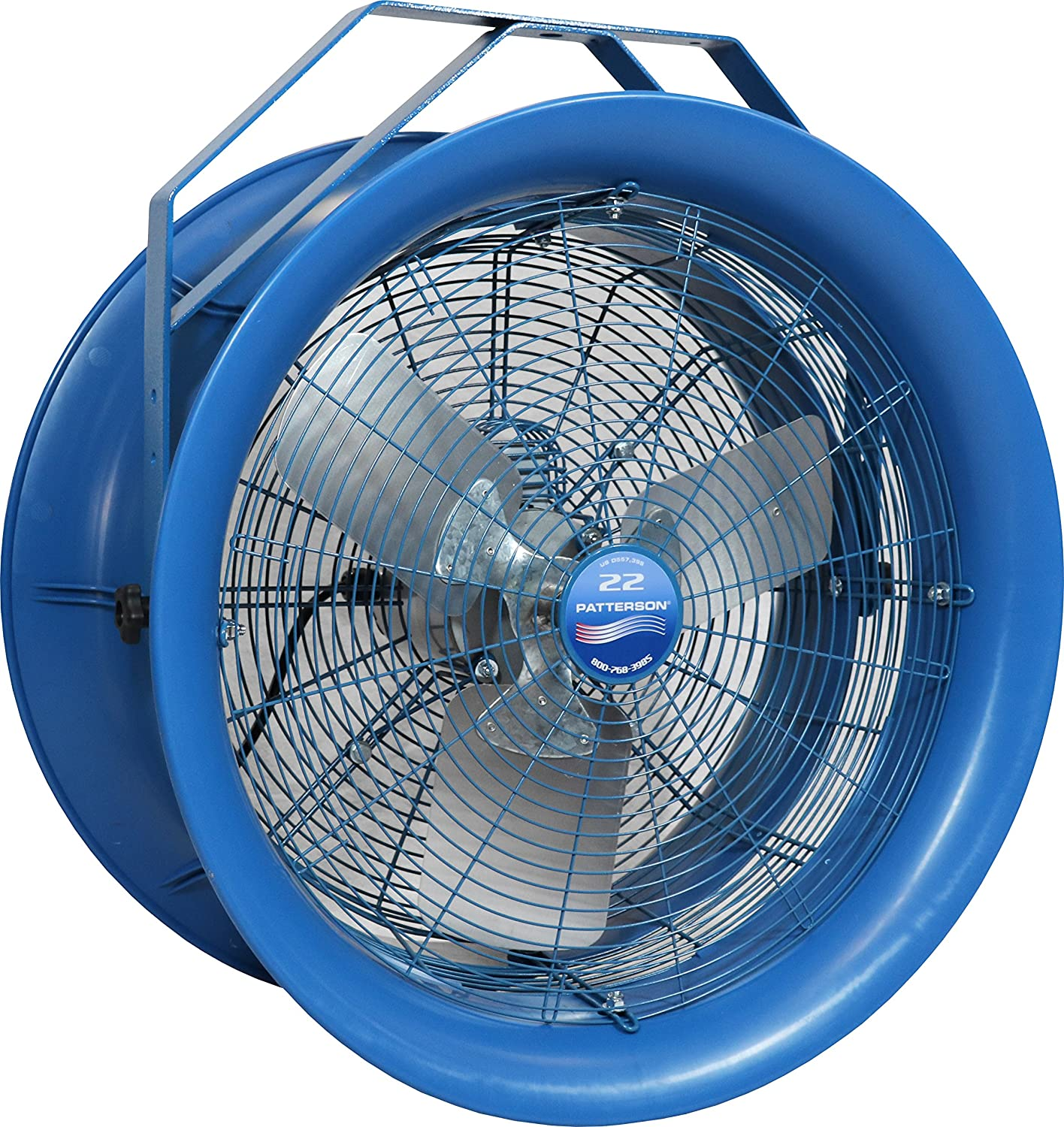High Velocity Industrial Fan with 18 Blade 3800 CFM 1PH 115//220v Chain Suspended