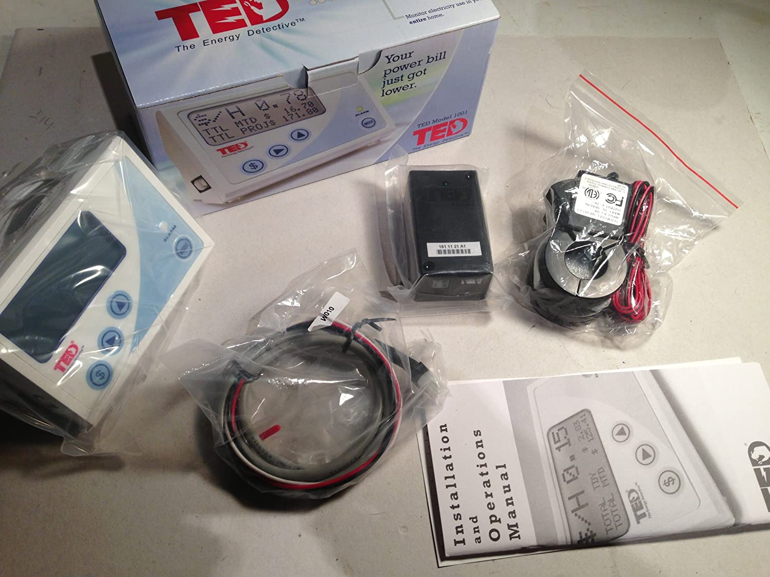 The Energy Detective >> Ted The Energy Detective Electricity Monitor Ted1001 Household