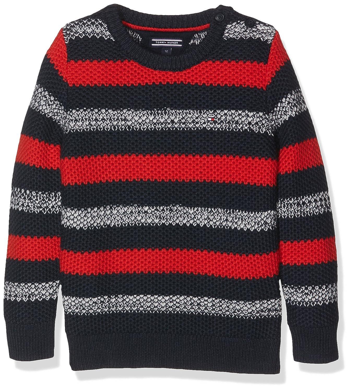 Tommy Hilfiger Jungen Pullover Darrel Stripe Cn Sweater L/s