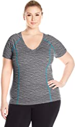 Fruit of the Loom Women's Plus Size Breathable Shirred T-Shirt,