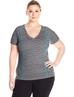 29b1ad7b4a0331 Fit for Me by Fruit of the Loom Womens Plus-Size Active Ballet 2fer Top  12815P ...