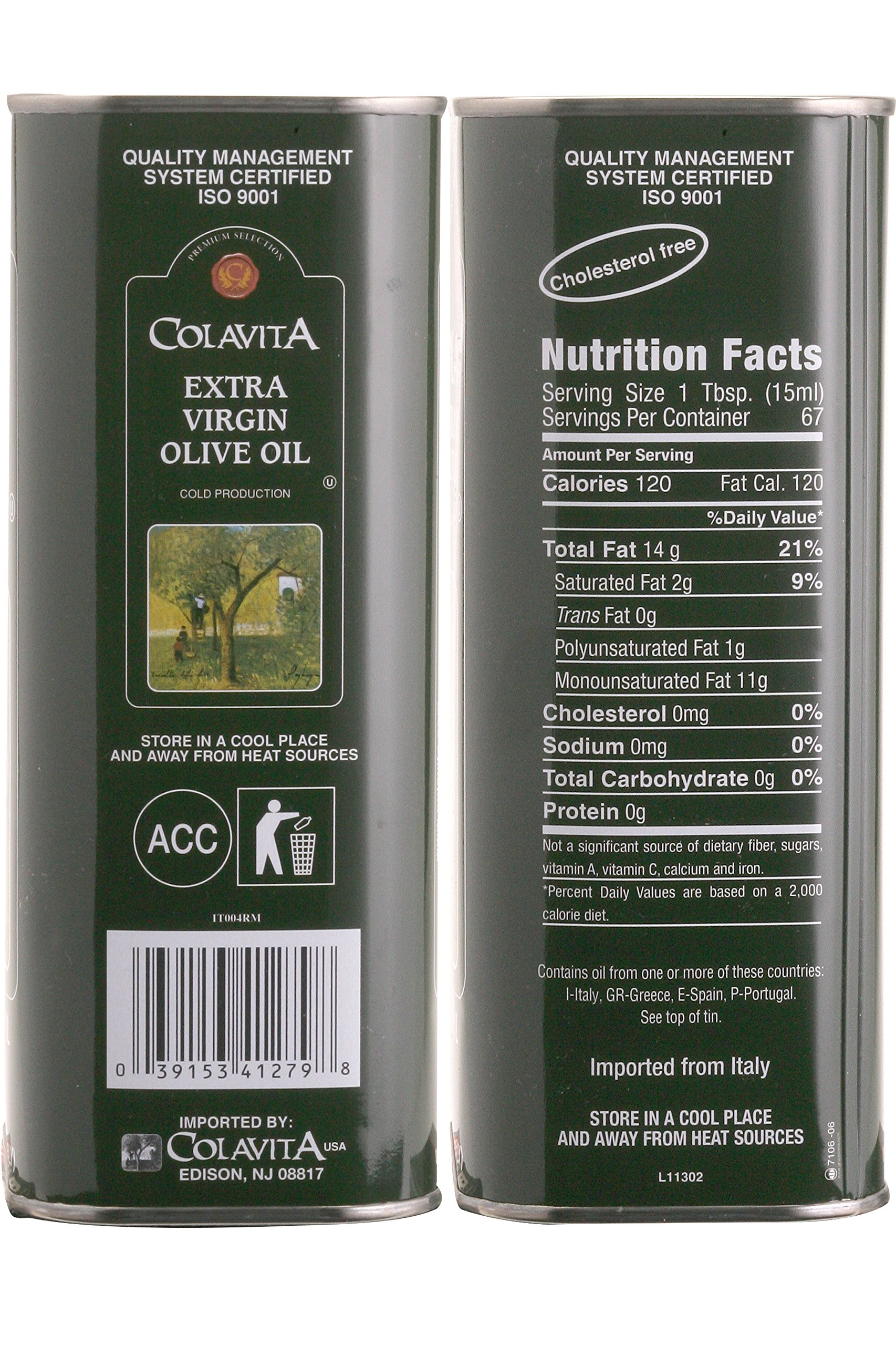 Colavita Extra Virgin Olive Oil, 34-Ounce Tins (Pack of 2) by Colavita (Image #5)