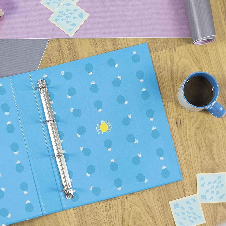 Cadeau original pour une amie Nos Pens/ées Dossier important dun esprit brillant Classeur /à 4 anneaux Con/çu avec des phrases et des dessins motivants