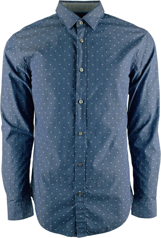 Hugo Boss Mens Ronni Slim Fit Long Sleeve Shirt