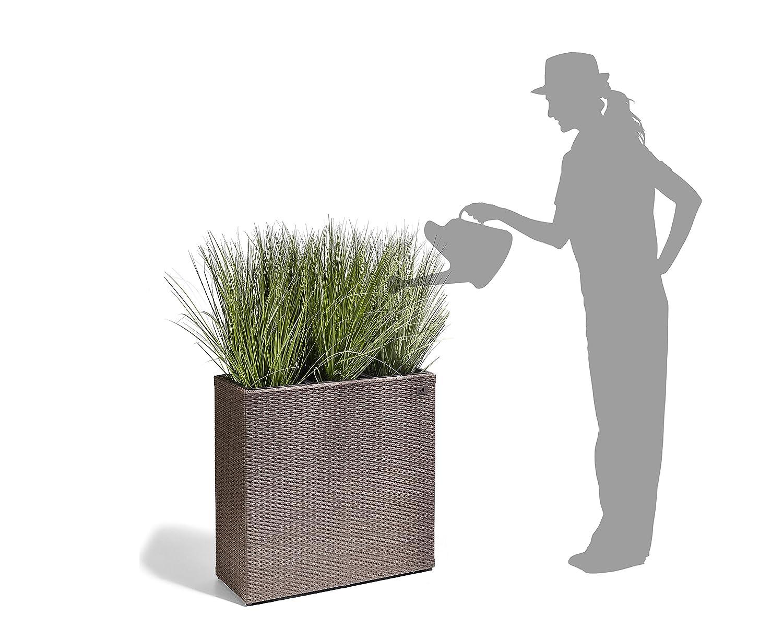 Gartenfreude Pflanzkübel, Raumteiler Polyrattan, 3x Kunststoff ...