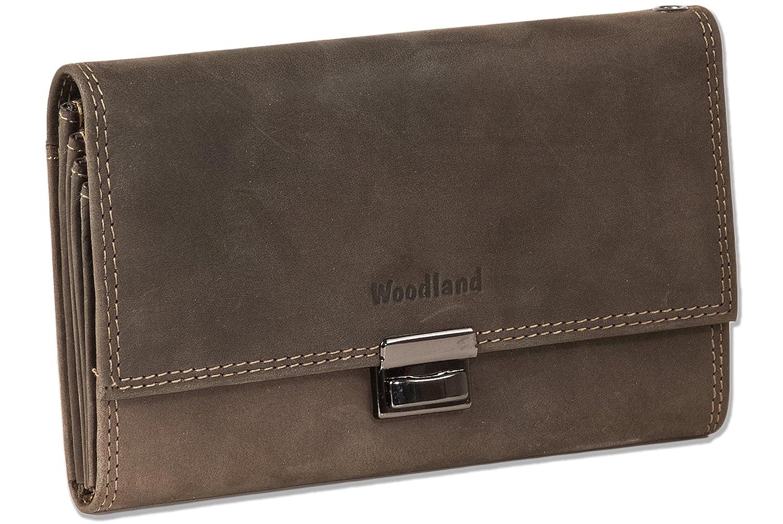 Woodland - mayor camarero cartera con monedero reforzada adicional hecha de piel de ante suave, sin tratar en Brown oscuro/Taupe: Amazon.es: Zapatos y ...