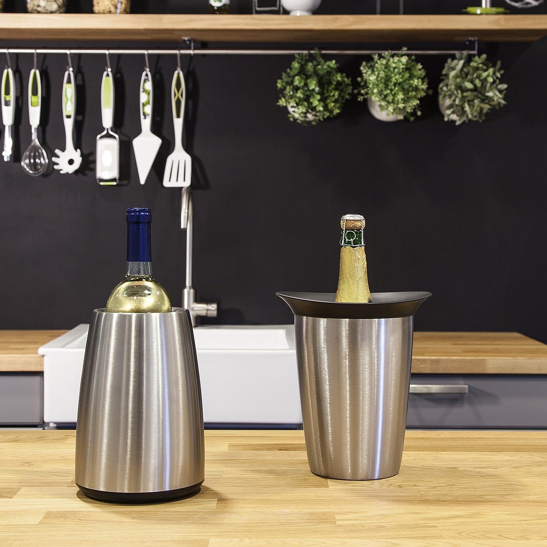 Vacu Vin Rapid Ice Elegant Champagne Cooler Stainless Steel