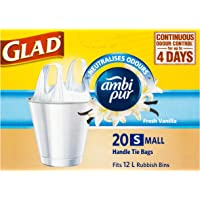 Glad Ambi Pur Handle Tie Bags, 20 count