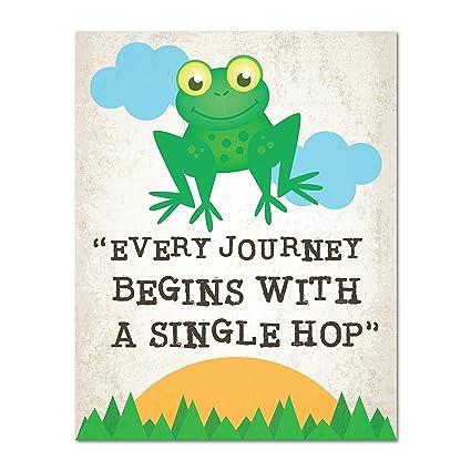Amazon Com Every Journey Begins With A Single Step Nursery Decor