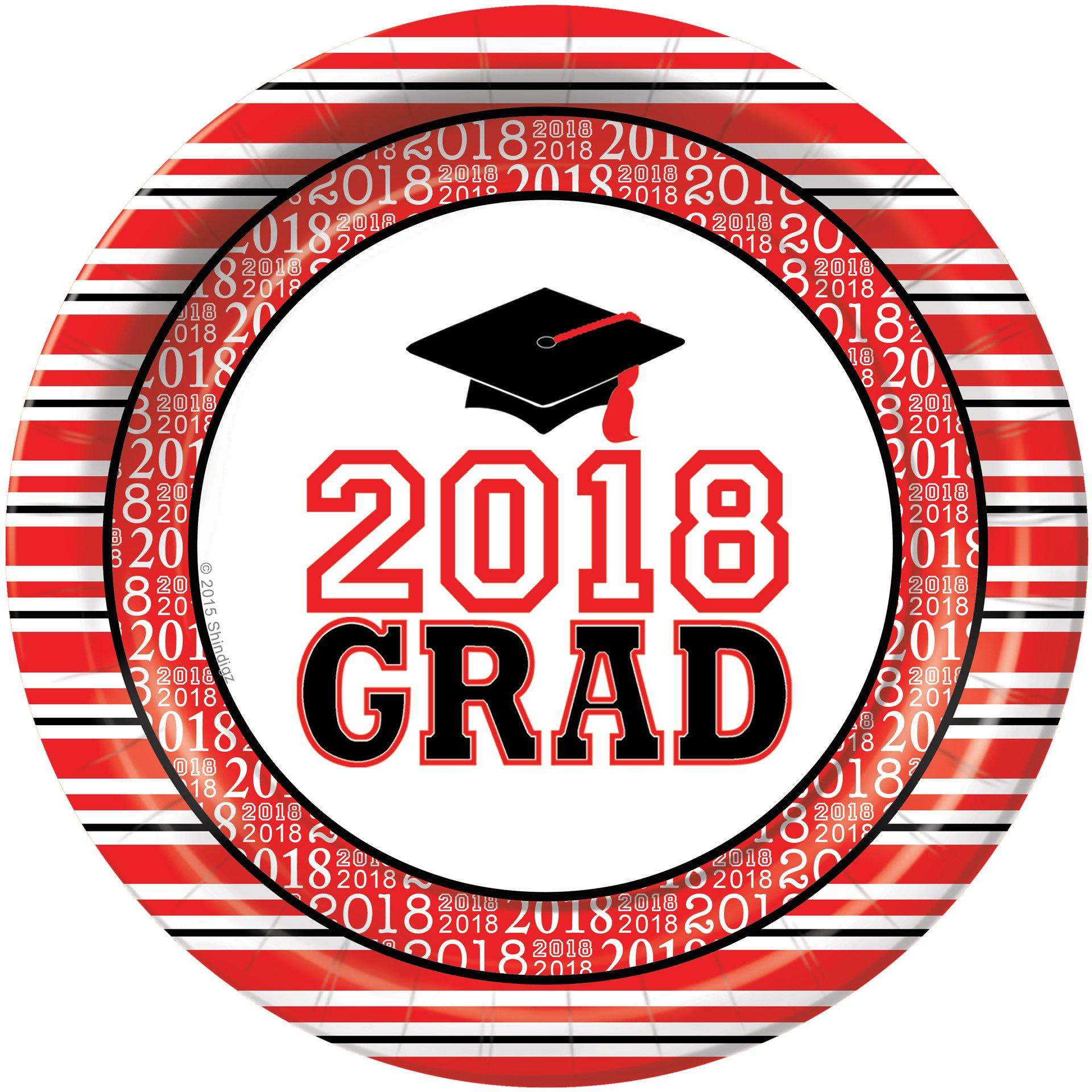 Shindigz Red Grad Success 2018 Dinner Plates