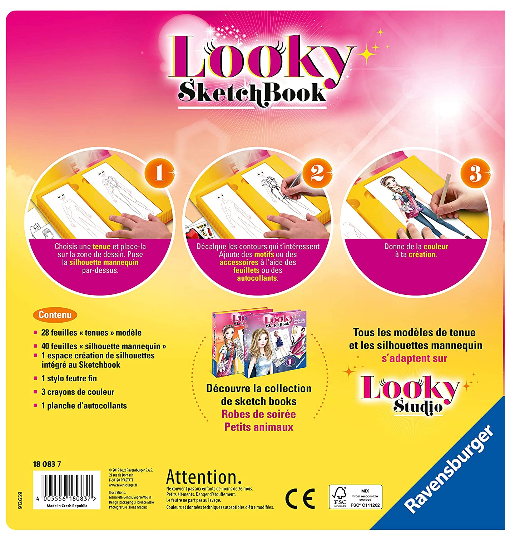 Looky Sketch Book Petits Animaux Loisir Cr/éatif Ravensburger 4005556180837