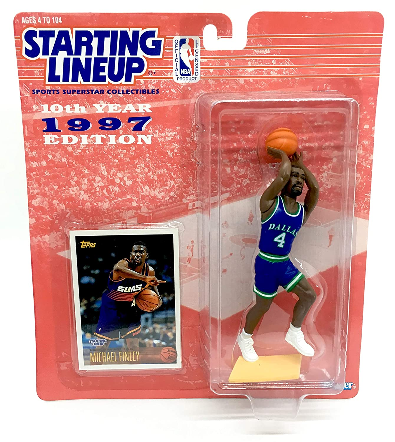 SLU Michael Finley Dallas Mavericks 1997 Starting Lineup Basketball Action Figure
