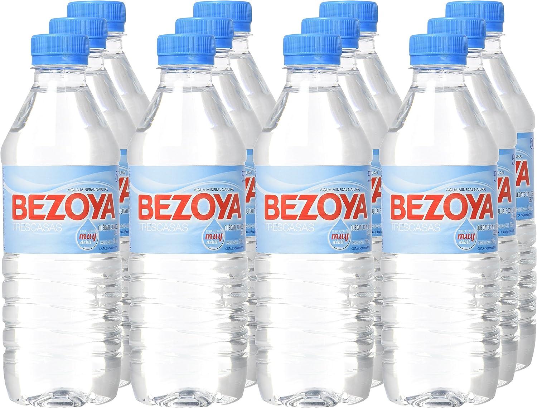 Bezoya Agua Mineral Natural Botella 50cl - [Pack de 12]: Amazon.es ...