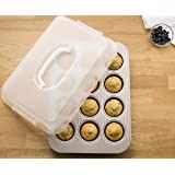 USA Pan 1200MFLD-ST Bakeware Nonstick Cupcake and Muffin Pan with LId
