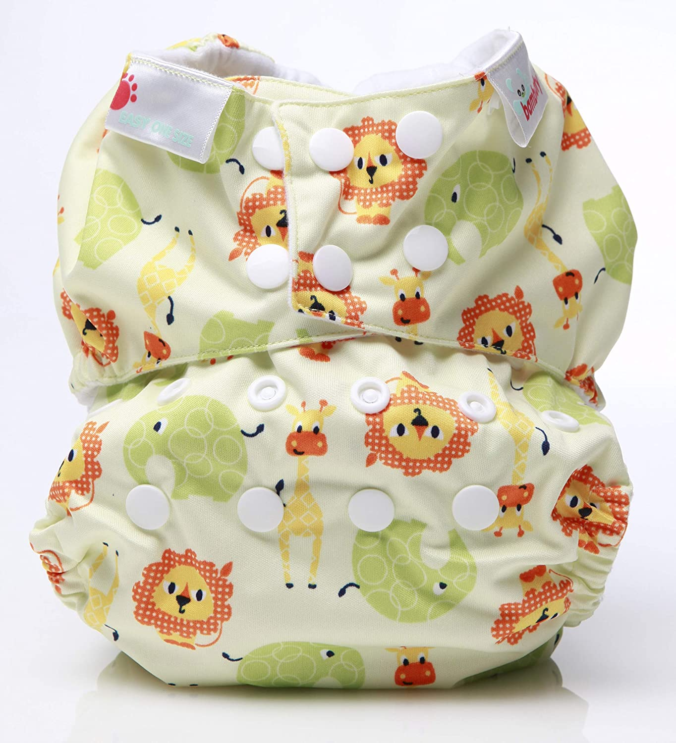 Baby Blue Stripes Bambooty Reusable Nappy All in One Easy One Size Bamboo Organic Cotton Washable