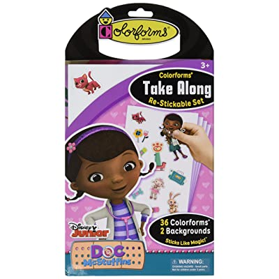 Colorforms Brand Doc McStuffins Take Along Restickable Set: Toys & Games