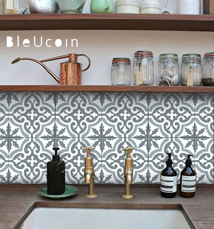 - Moroccan Blue Dusk Tile Stickers, Kitchen And Bathroom Backsplash