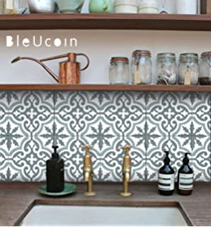 Amazon.com: Moroccan Tile Stickers for Kitchen and Bathroom ...