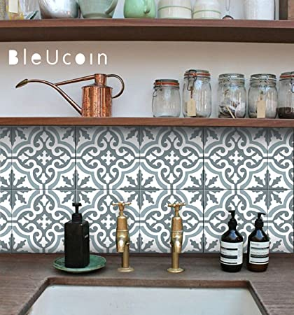 Incroyable Moroccan Blue Dusk Tile Stickers, Kitchen And Bathroom Backsplash Tile  Decal, Stair Riser Stickers